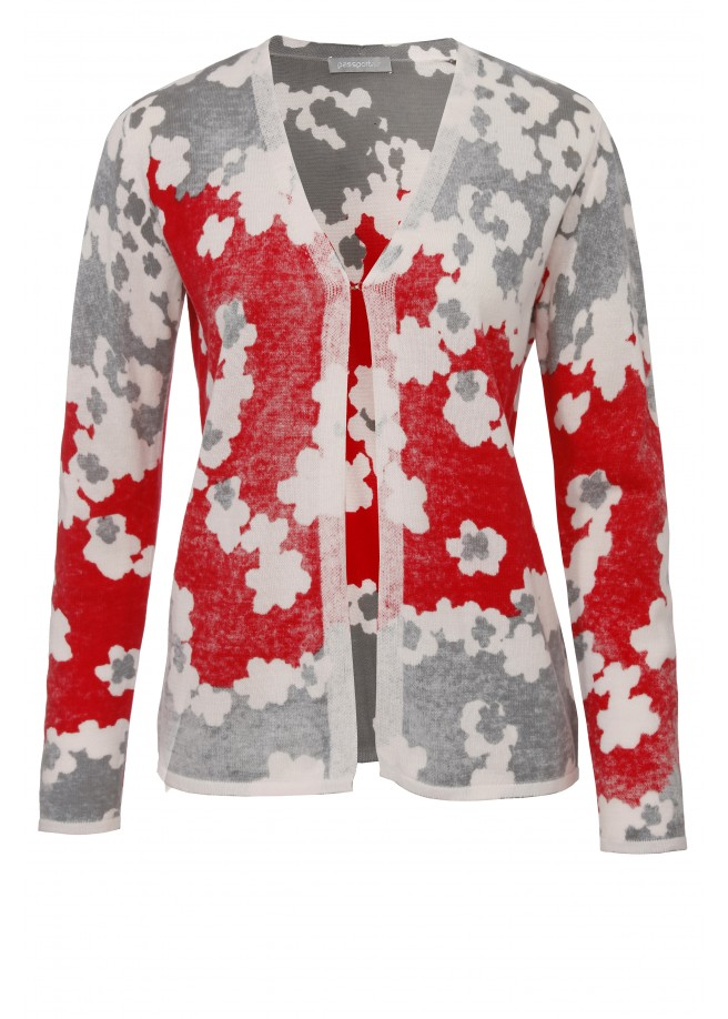 Romantischer Cardigan mit Blütenmuster /