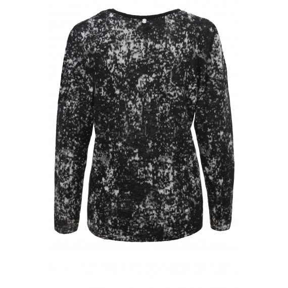 Rundhals-Pullover mit Jacquard-Muster /