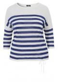 Streifen-Pullover im sommerlichen Leinen-Baumwollmix /