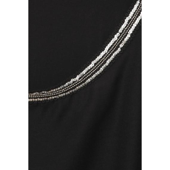 2-in-1-Shirt mit Pailletten und Perlen /