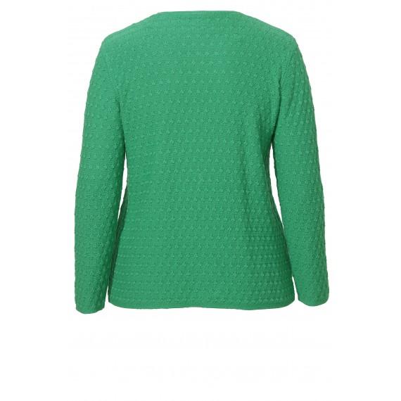 Modischer Pullover mit Struktur-Punkten /
