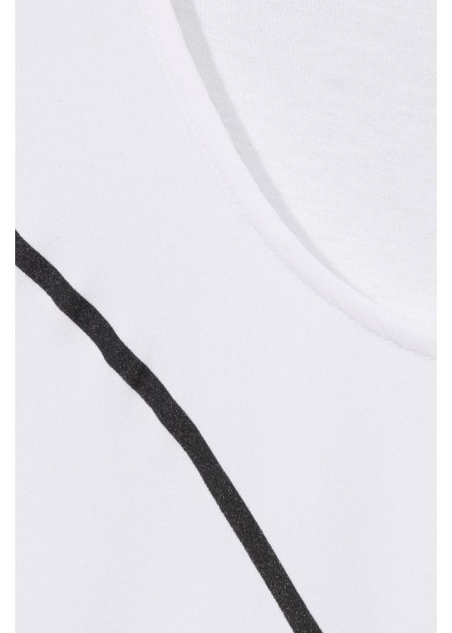Cleanes Shirt mit Zierdruck /