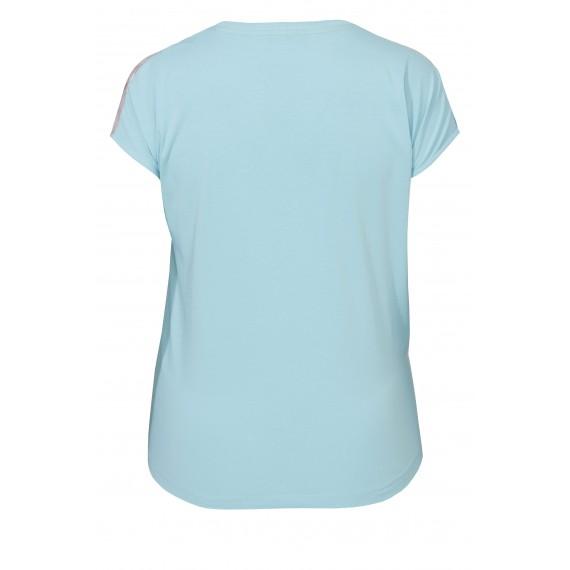 Leichtes Shirt mit seidiger Front /
