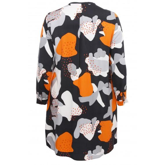 Lässiges Blusen-Kleid mit Muster /