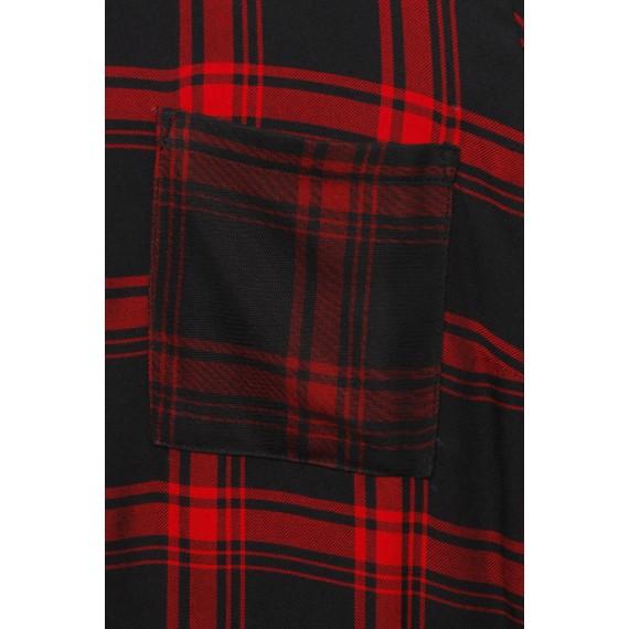 Luftiges Blusen-Kleid mit Karo-Muster /