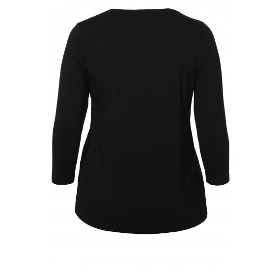 Luftiges Shirt mit seidiger Front /
