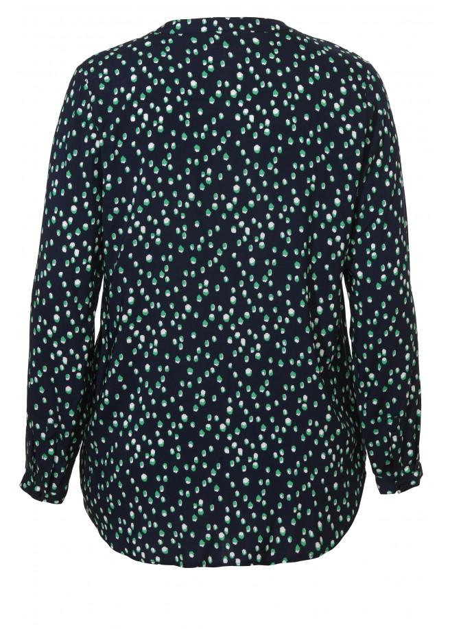Luftige Bluse mit Tupfen-Muster /