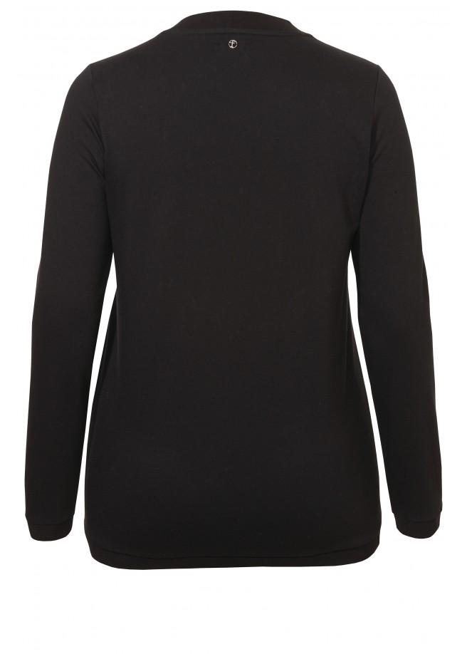 Feminines Sweatshirt mit Kristall-Steinchen /