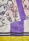 Eleganter Schal mit Mustermix und Fransen /