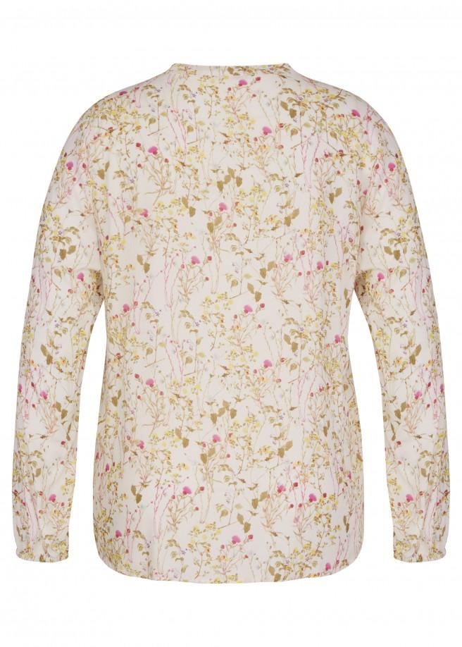 Zarte Bluse mit Blumen-Print /
