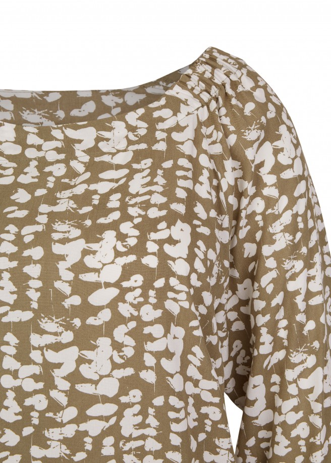 Angesagte Carmen-Bluse mit floralem Print /