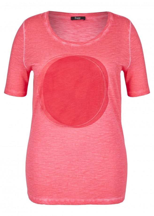 Sportives T-Shirt mit Netz-Applikation /