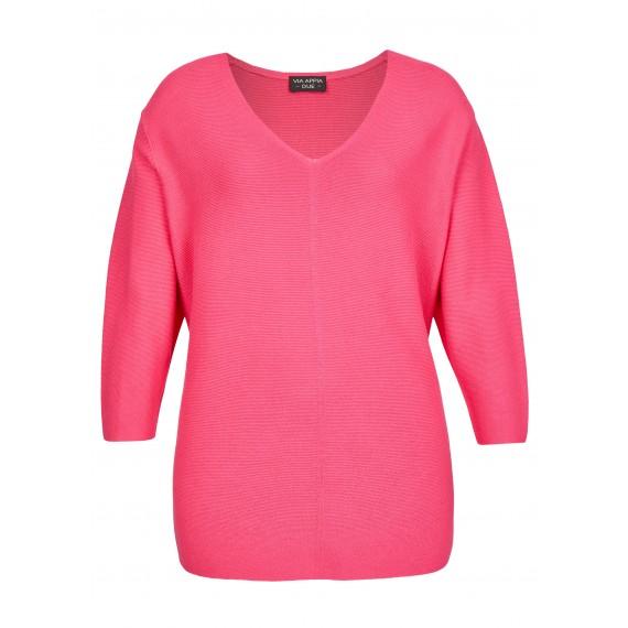 Süßer Pullover mit Materialstruktur /