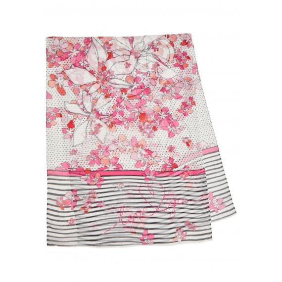 Femininer Schal mit Muster-Mix /