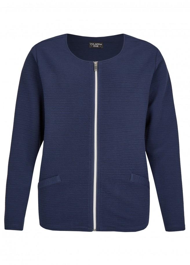 Elegante Jacke mit Struktur-Streifen /