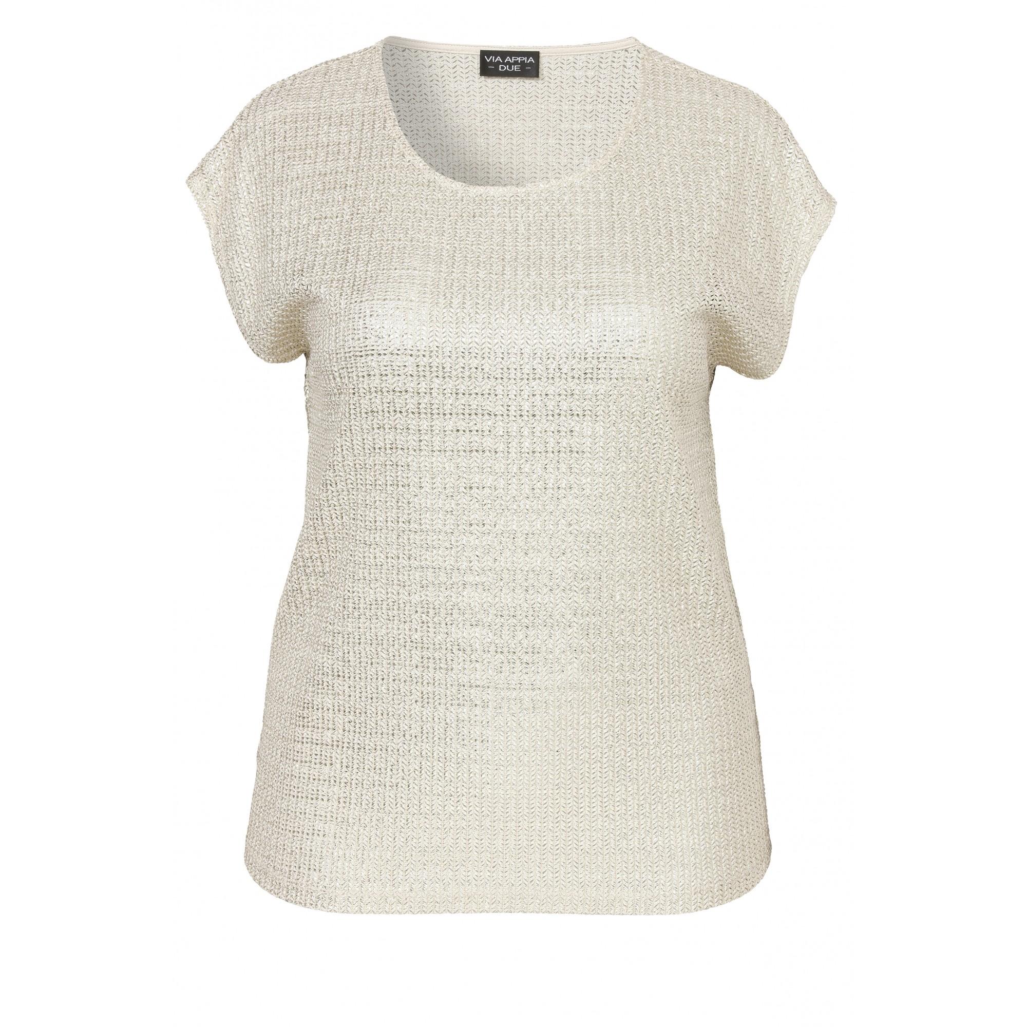 Strahlendes Shirt mit glänzendem Garn