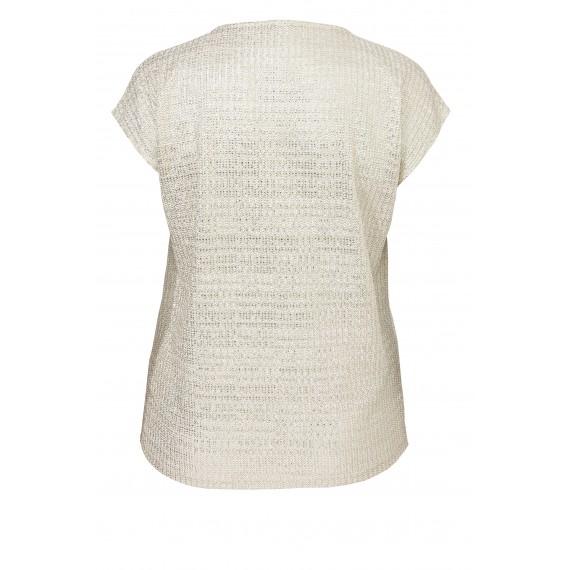 Strahlendes Shirt mit glänzendem Garn /