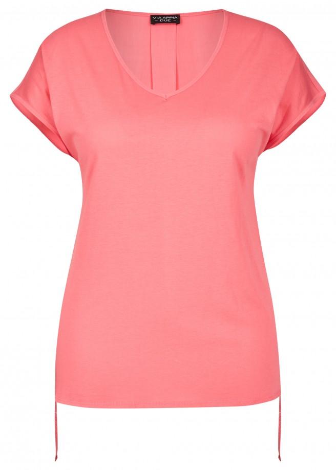 Luftiges Blusen-Shirt mit Saumschnürungen /