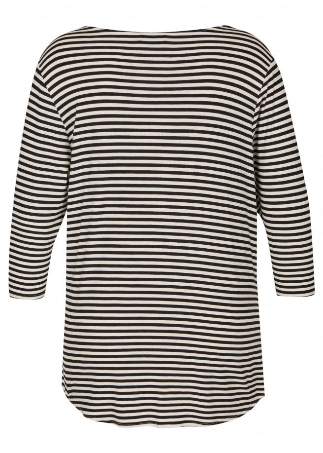 Modernes Long-Shirt mit Knopf-Detail /