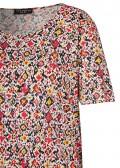Luftiges T-Shirt mit Grafik-Muster /