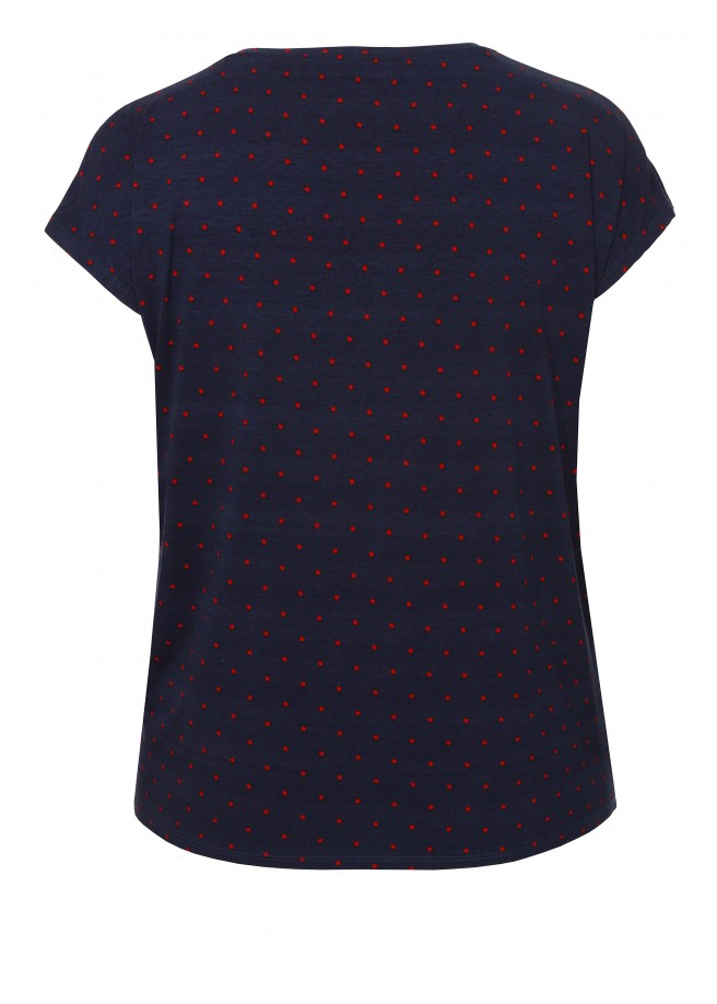 Luftiges Shirt mit Punkten /