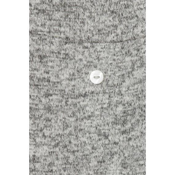 Weiches Shirt mit langer Rücken-Knopfleiste /