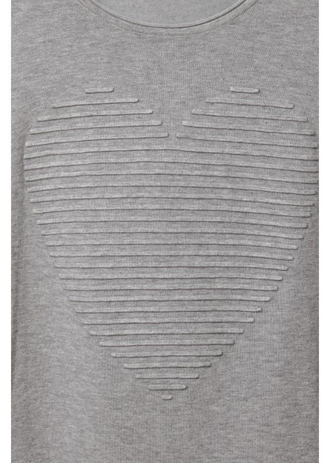 Süßer Pullover mit Struktur-Herz /