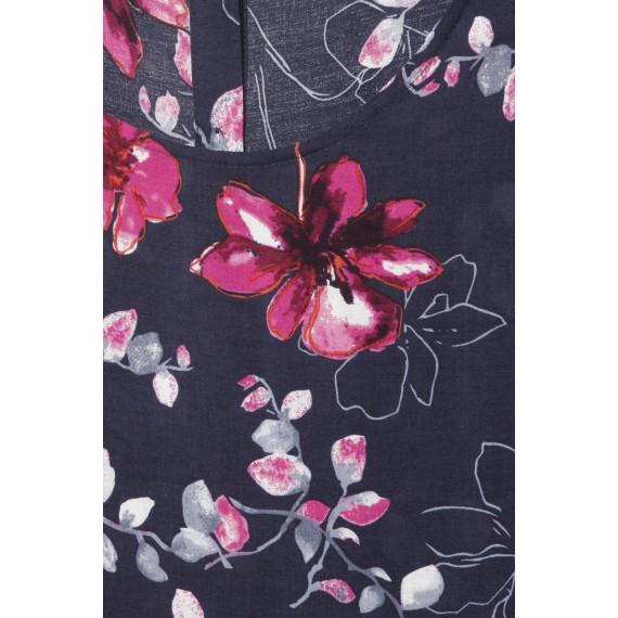 Romantische Bluse mit floralem Print /