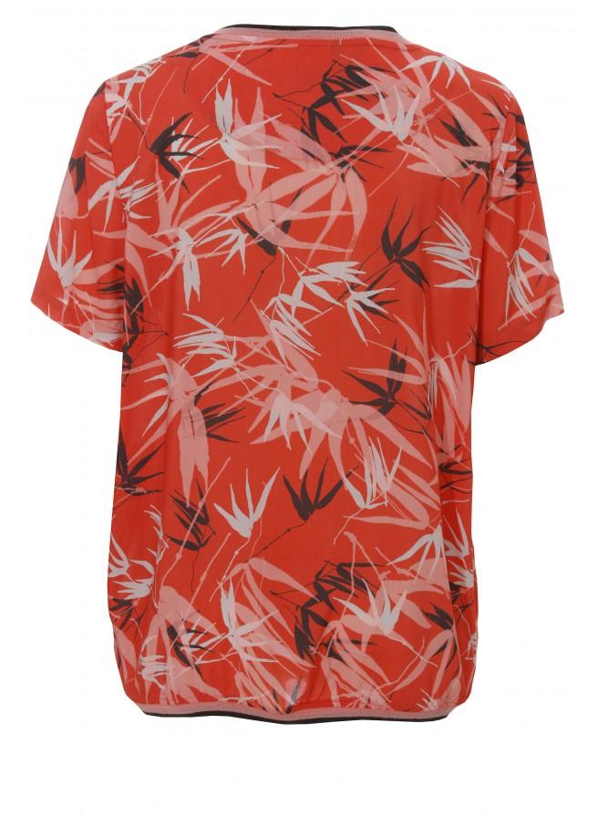 "Luftiges Blusen-Shirt ""Tropical"" /"