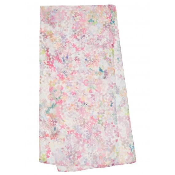 Zarter Schal mit floralem Print /