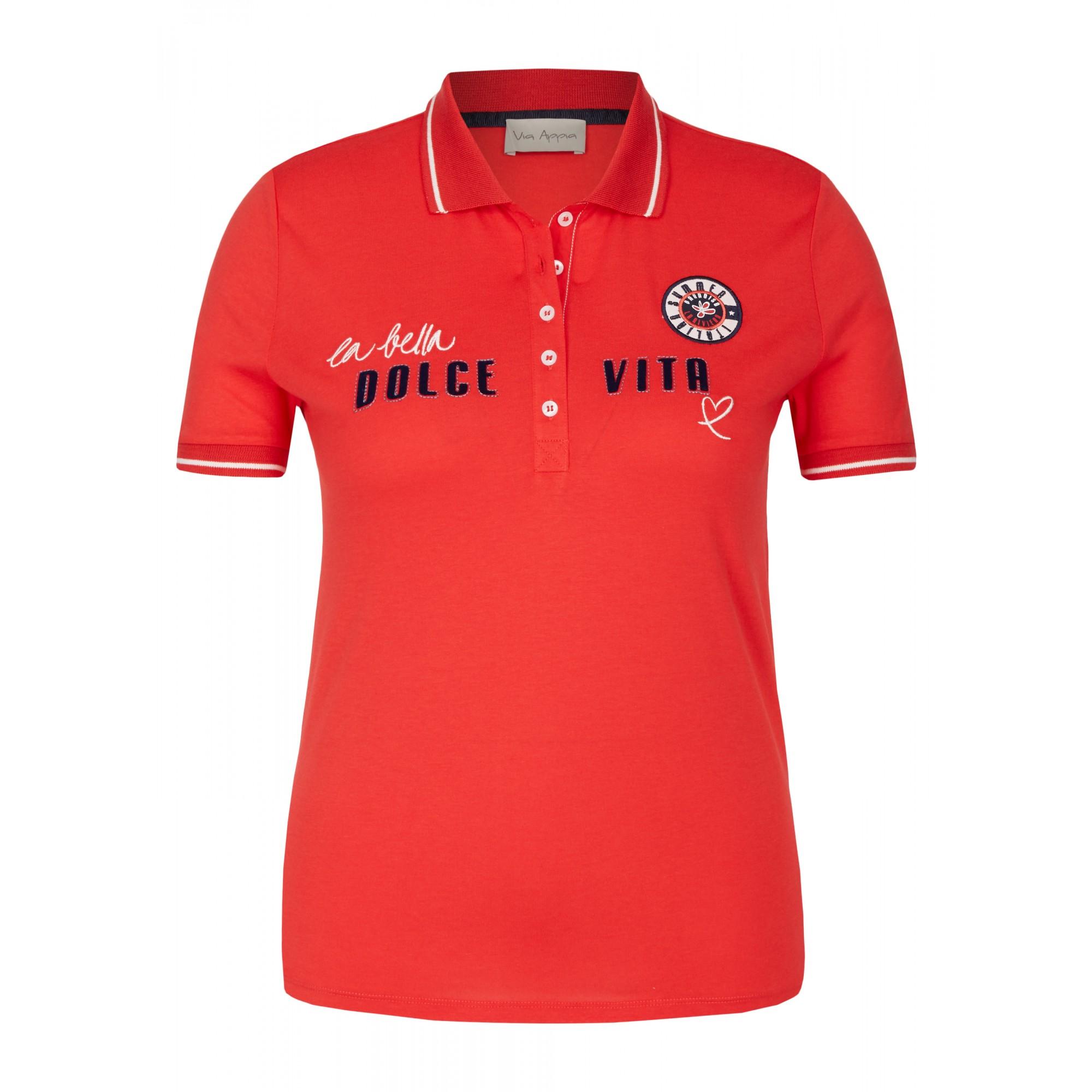 - Sportives Polo-Shirt mit Schrift