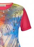 Exotisches Blusen-Shirt mit Front-Motiv /
