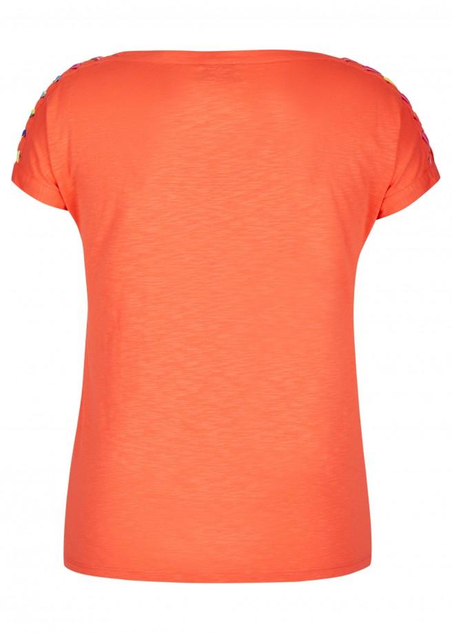 Schlichtes Shirt mit Schnürdetails /