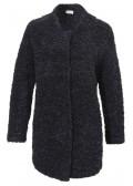 Kurzer Woll-Mantel mit raffiniertem Ausschnitt /