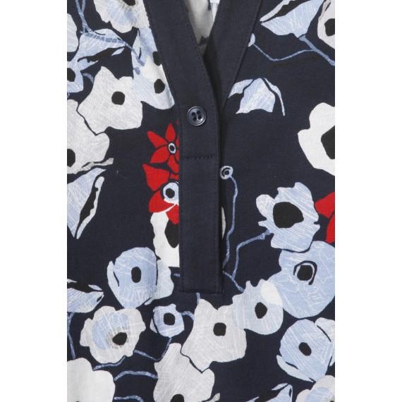 Luftige Bluse mit floralem Print /