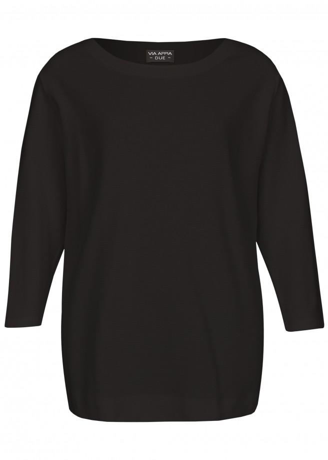 Cleaner Pullover mit Materialstruktur /