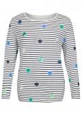 Verspieltes Shirt mit Muster-Mix /