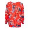 Romantische Bluse mit Blumen-Muster /