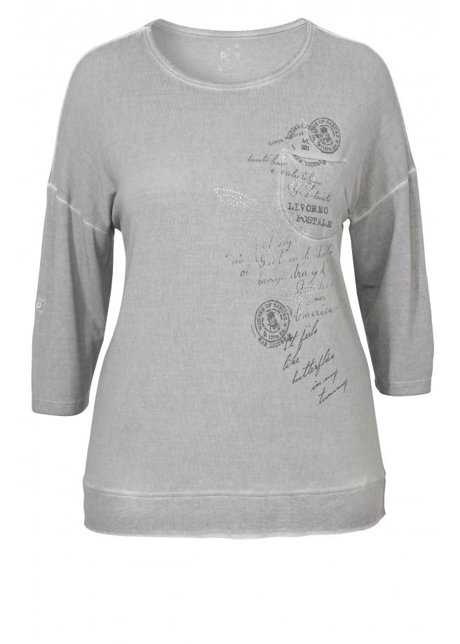 Lässiges Shirt mit Motivdruck /