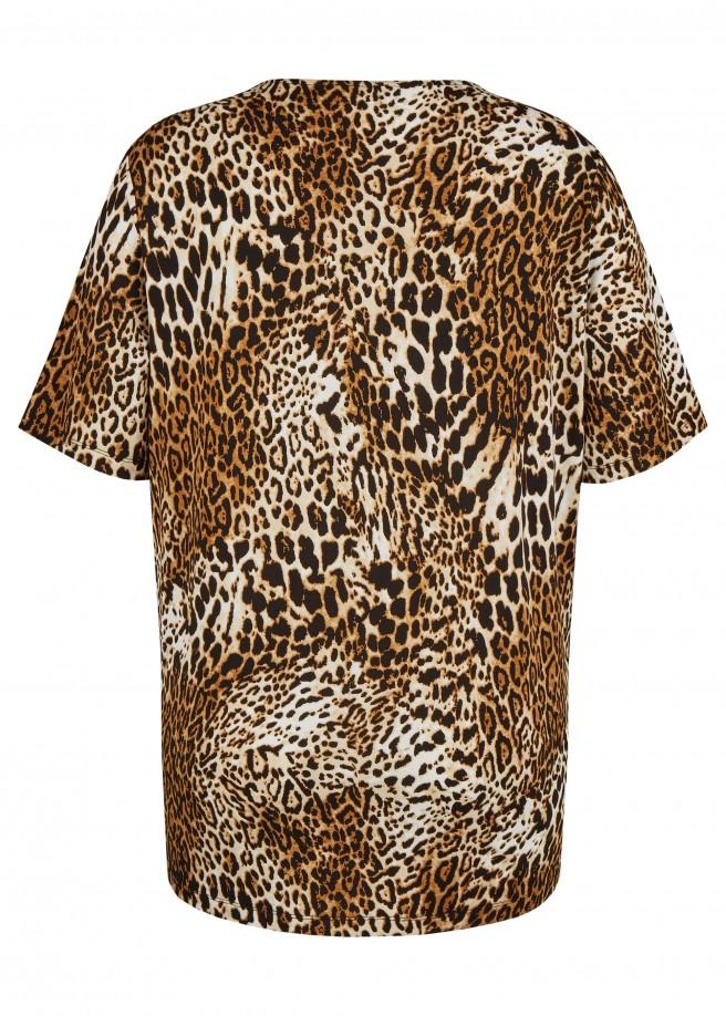 Lässiges Shirt mit Leo-Muster /