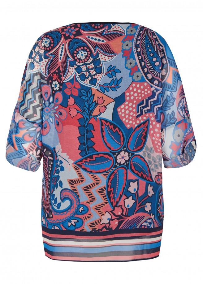 Trendige Bluse mit fröhlichem Print /