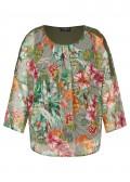 Sommerliche Bluse mit exotischem Print /