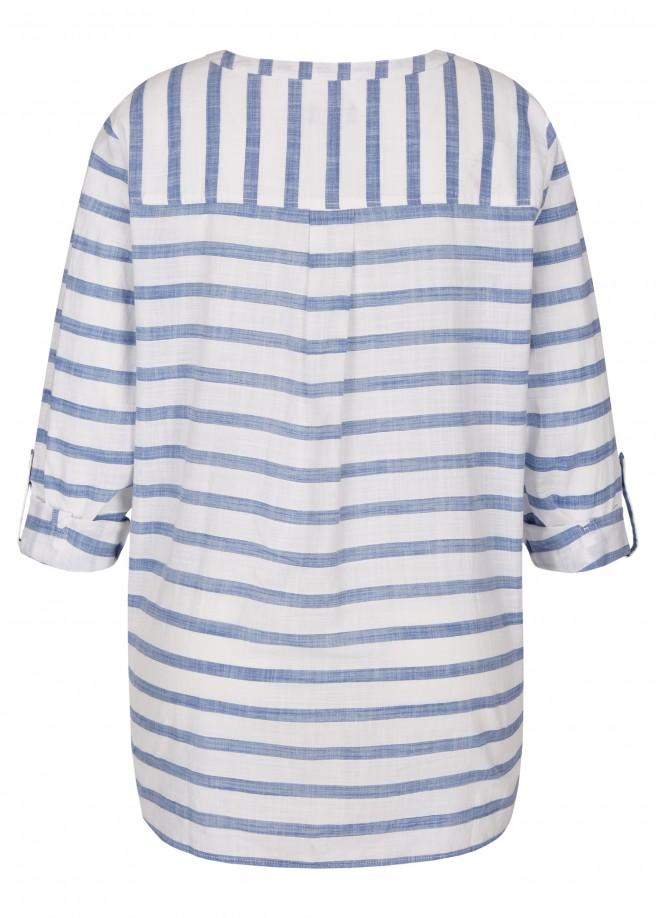 Maritime Bluse mit Streifen-Muster /