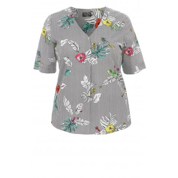 Leichtes Blusen-Shirt mit Mustermix /