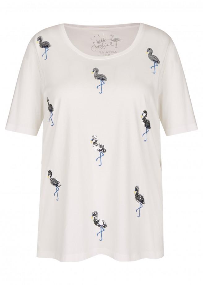 Verspieltes T-Shirt mit Front-Verzierung /