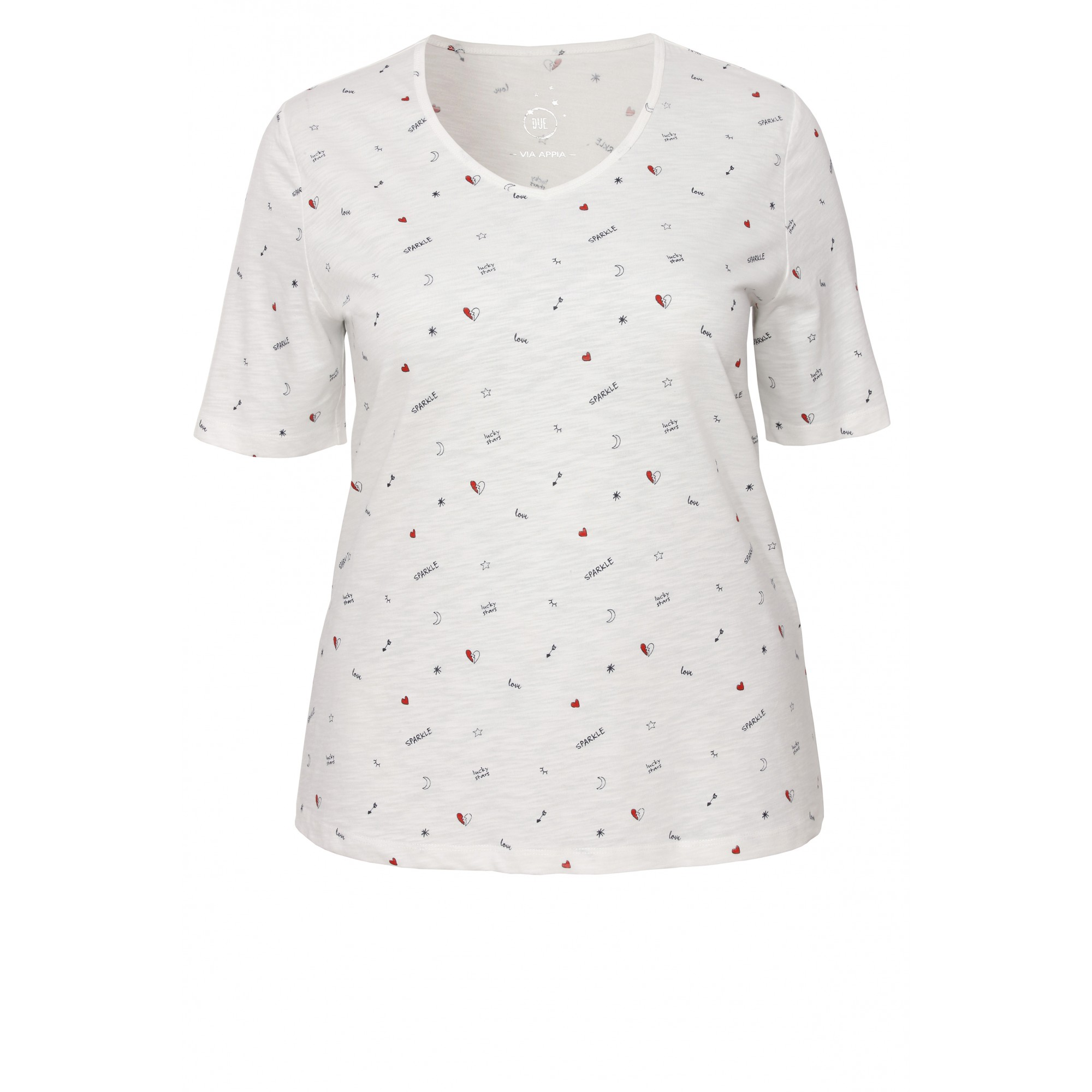 Leichtes T-Shirt mit Galaxis-Muster