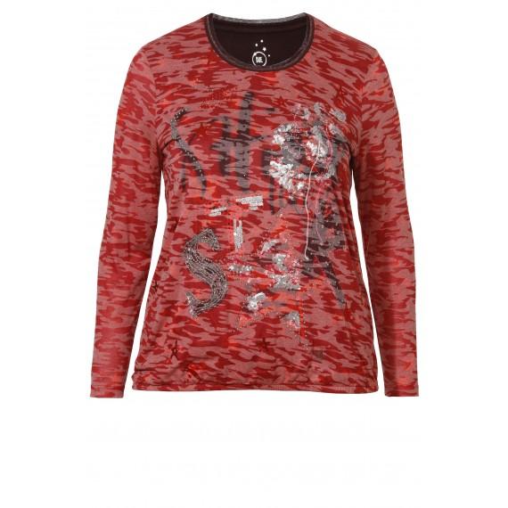 Aufwendiges Shirt mit Army-Muster /