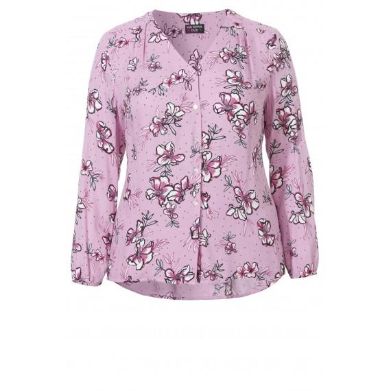 Romantische Bluse mit Blüten-Muster /