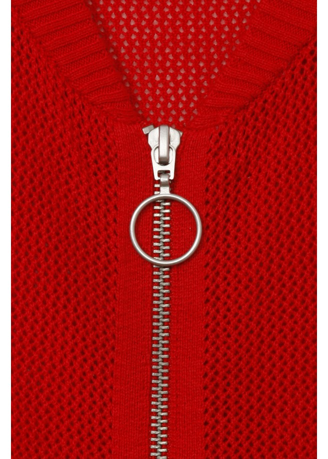 Feminine Jacke mit Zipper /