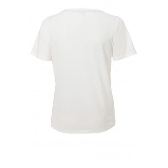 Leichtes T-Shirt mit Stoff-Applikationen /
